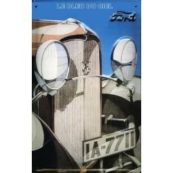 Plaque métal publicitaire en relief bombée 20 x 30 cm : Ford Automobile