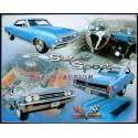 Plaque métal publicitaire 30 x 40 cm : 1967 Super Sport