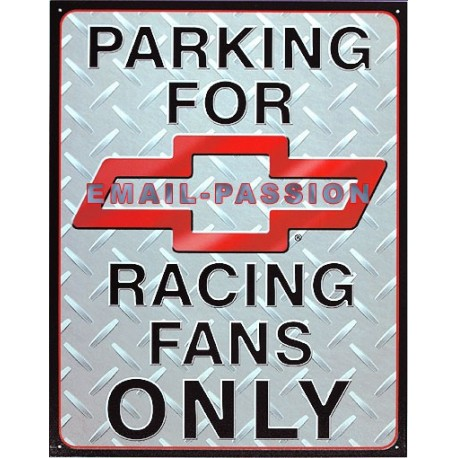 Plaque métal publicitaire 30 x 40 cm : Chevrolet Parking Only