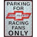 Plaque métal publicitaire 30 x 40 cm : Chevrolet Parking Only