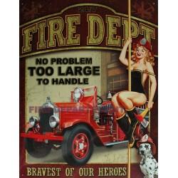 Plaque métal publicitaire 30x40cm plate : US Fire Department