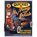 Plaque métal publicitaire plate 30x40cm : Quickies Pump and polish