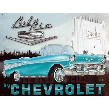 Plaque métal publicitaire 30 x 40 cm plate : Chevrolet Bel Air