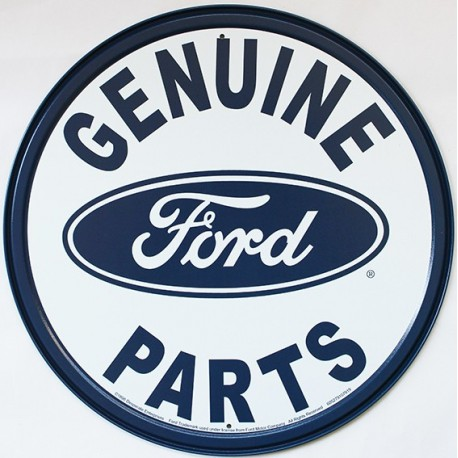 Plaque métal publicitaire diamètre 30 cm plate : Ford Genuine Parts
