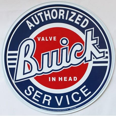 Plaque métal publicitaire diamètre 30 cm plate : Buick Authorized Service