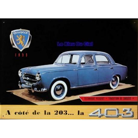 Plaque métal publicitaire en relief 30 x 40 cm : Peugeot 403