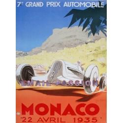 Plaque métal publicitaire 30 x 40 cm : Monaco Grand Prix 1935