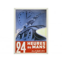 Plaque métal publicitaire plate 30 x 40 cm : 24h du Mans 1954