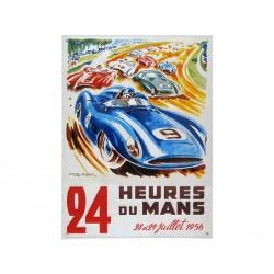 Plaque en relief bombée 30 x 40 cm : 24h du Mans 1956