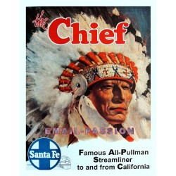 Plaque métal publicitaire 30x40cm plate :  Chief.