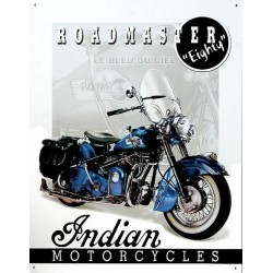 Plaque métal publicitaire 30x40cm plate : INDIAN ROADMASTER