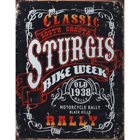 Plaque métal publicitaire 30x40cm plate : STURGIS BIKE WEEK.