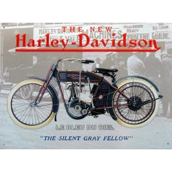plaque publicitaire 30x40cm plate The new Harley Davidson
