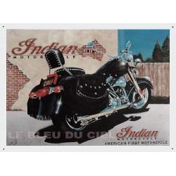Plaque métal publicitaire 30x40cm plate : Indian Motors