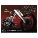 Plaque métal publicitaire 30x40cm : The Art of the chopper