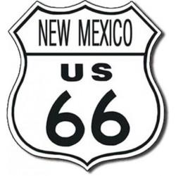 Plaque métal publicitaire 30x30 cm : Route US66 NEW MEXICO