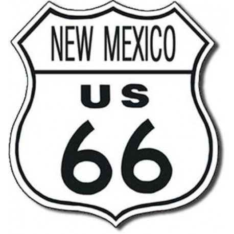 Plaque métal publicitaire 30x30 cm : Route US66 NEW MEXICO