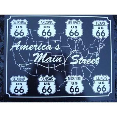 plaque métal publicitaire 30x40cm plate : America's MAIN STREET