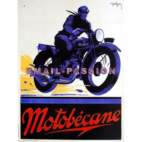 Plaque métal publicitaire 30x40cm : Motobécane Géo Ham