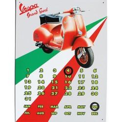 Calendrier métal publicitaire 30x40cm plat : Vespa