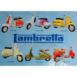Plaquemétal publicitaire 30x40cm relief : Lambretta Sérial