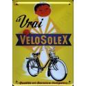 Plaque métal publicitaire30x40cm bombée : Vélosolex