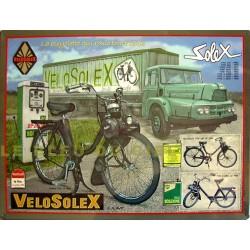 Plaque métal publicitaire 30x40cm plate relief : Vélosolex.