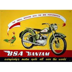 Plaque métal publicitaire 30x40cm relief : Moto BSA Bantam