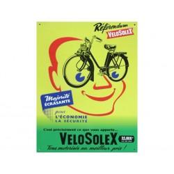 Plaque métal publicitaire 30x40cm  en  relief  :  Vélosolex