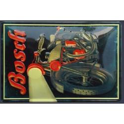 Plaque métal publicitaire  20x30cm bombée en relief  : BOSCH