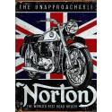 Plaque métal publicitaire 30x40cm : US Norton The Unapproachable.