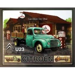 Plaque métal publicitaire 30x40cm plate relief : Citroën U23