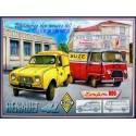 Plaque métal publicitaire 30x40cm plate relief : Renault utilitaires année 1960