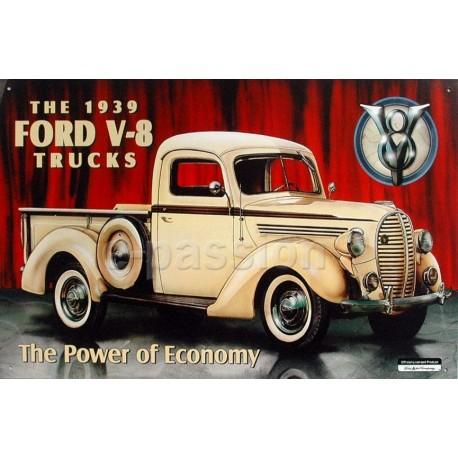Plaque métal publicitaire 30x40cm plate : FORD TRUCK V-8