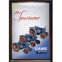 Plaque métal publicitaire 20x30cm bombée en relief : Tracteur Lanz Bulldog .