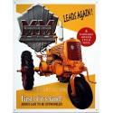 Plaque métal publicitaire 30x40cm plate : Tracteur Minneapolis Moline