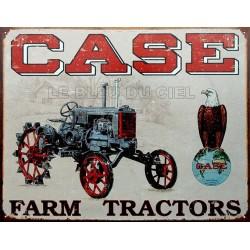 Plaque publicitaire 30x40cm plate  Tracteur Case