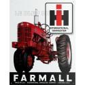 Plaque métal publicitaire 30x40cm plate: Tracteur IH Farmall