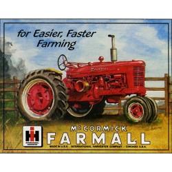Plaque métal publicitaire 30x40cm plate : Tracteur Mc Cormick Farmall