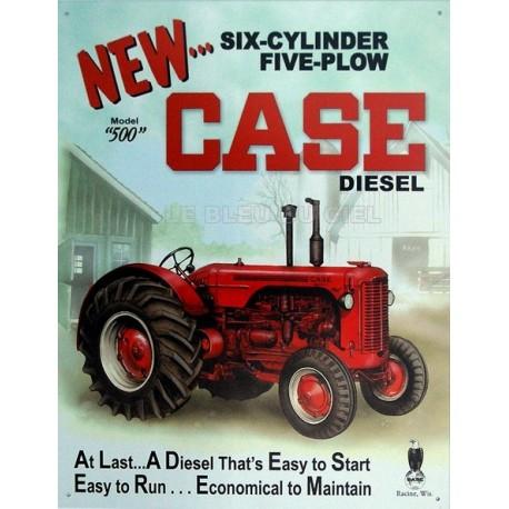 Plaque métal publicitaire 30x40cm plate : Tracteur New Case
