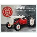 Plaque publicitaire 30x40cm plate : Tracteur Ford Farming Power