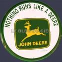 plaque métal publicitaire diam 30cm plate relief : Logo john Deere