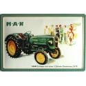 Plaque métal publicitaire 20x30cm bombée en relief : M.A.N