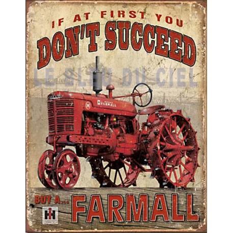 Plaque métal publicitaire plate 30x40cm : Buy a ... Farmall