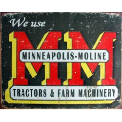 Plaque métal publicitaire 30x40cm plate : Logo Minneapolis-Moline