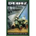 Plaque métal publicitaire 20x30cm bombée en relief : Tracteur DEUTZ.