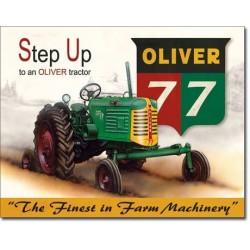 Plaque métal publicitaire 30x40cm plate : Tracteur OLIVER 77