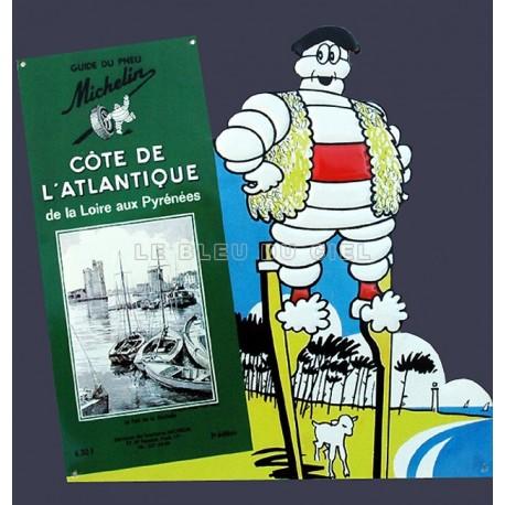 Plaque métal publicitaire 30x40cm découpée relief : Michelin carte