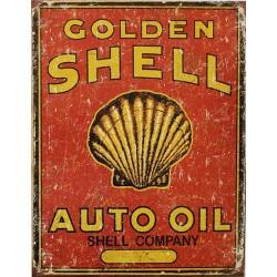 Plaque métal publicitaire 30X40cm plate : GOLDEN SHEL