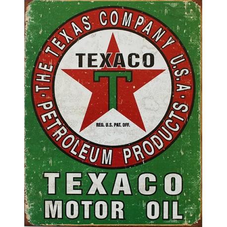 Décoration garage : plaque publicitaire 30x40cm plate motoroil TEXACO Vintage